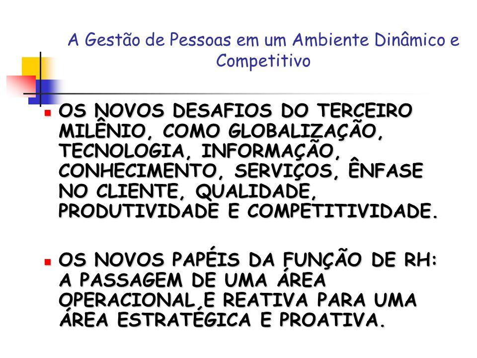 A Gestão de Pessoas em um Ambiente Dinâmico e Competitivo