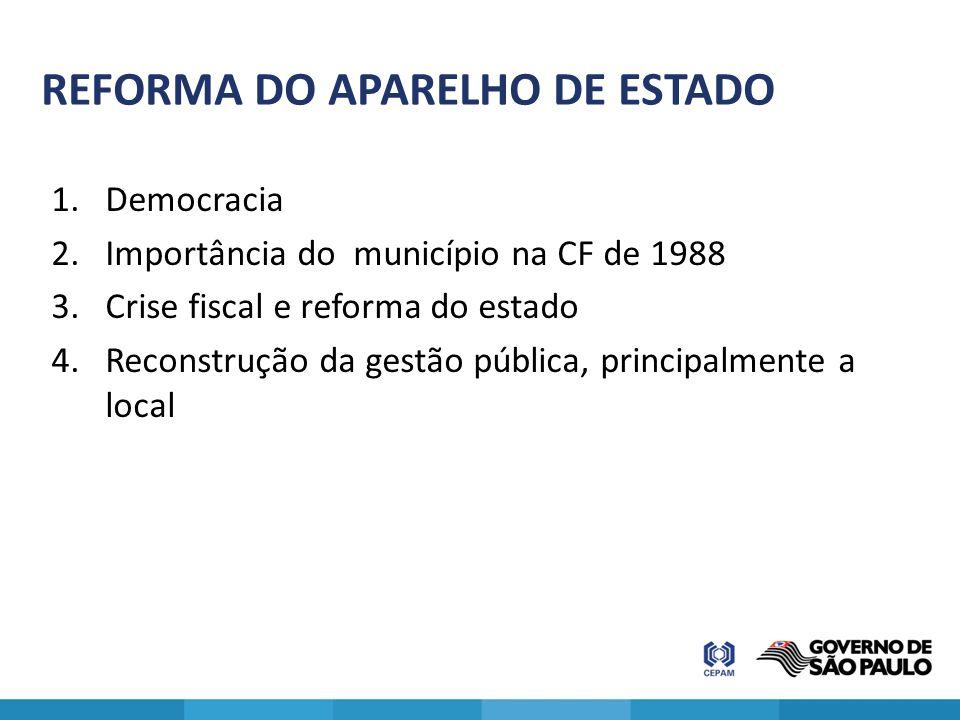 REFORMA DO APARELHO DE ESTADO