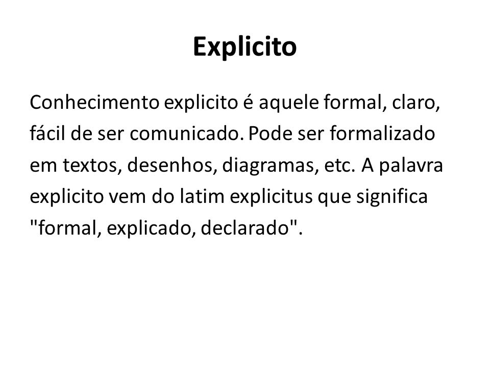 Explicito