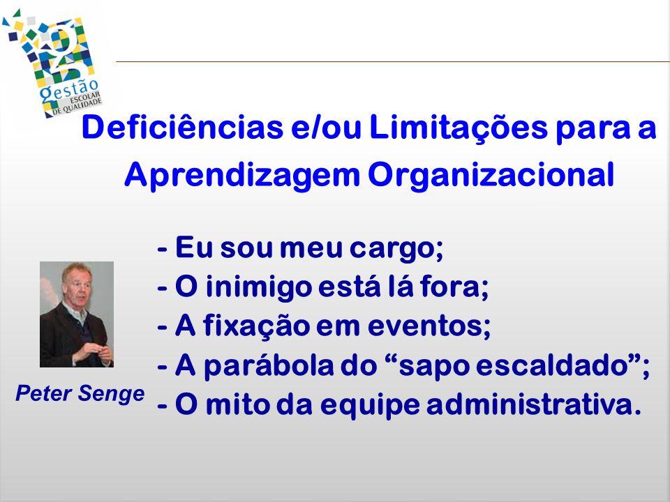 Deficiências e/ou Limitações para a Aprendizagem Organizacional