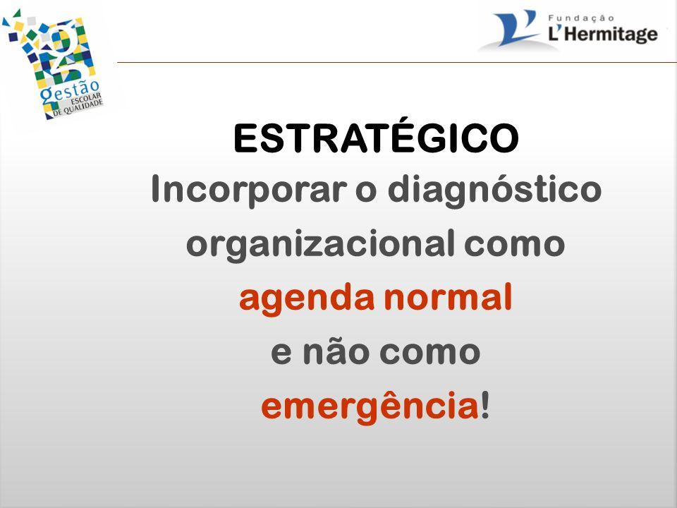 Incorporar o diagnóstico organizacional como