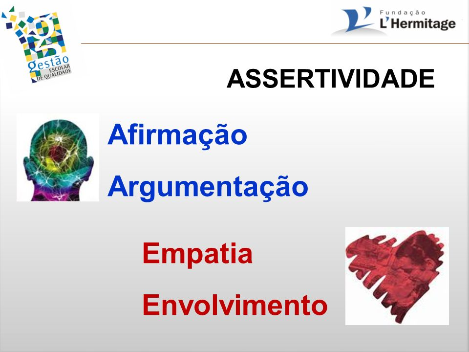 ASSERTIVIDADE Afirmação Argumentação Empatia Envolvimento