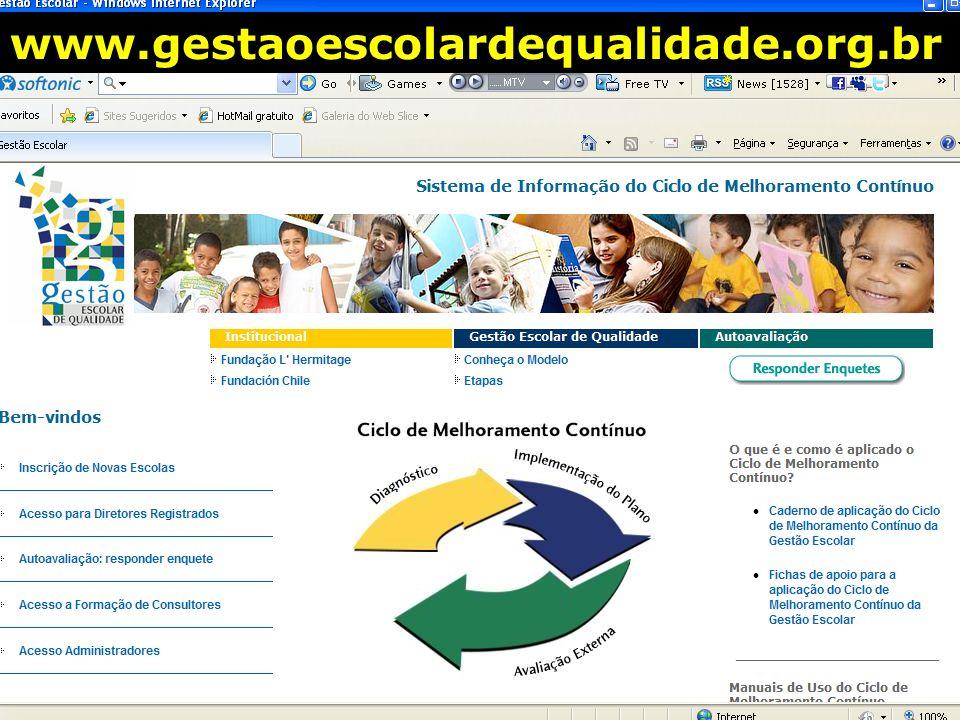 www.gestaoescolardequalidade.org.br Gestão Escolar de Qualidade