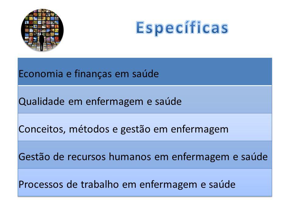 Específicas Economia e finanças em saúde