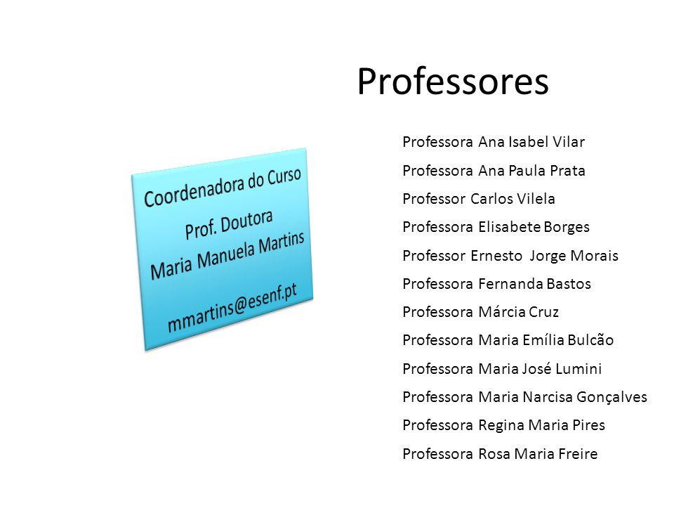 Professores Coordenadora do Curso Prof. Doutora Maria Manuela Martins