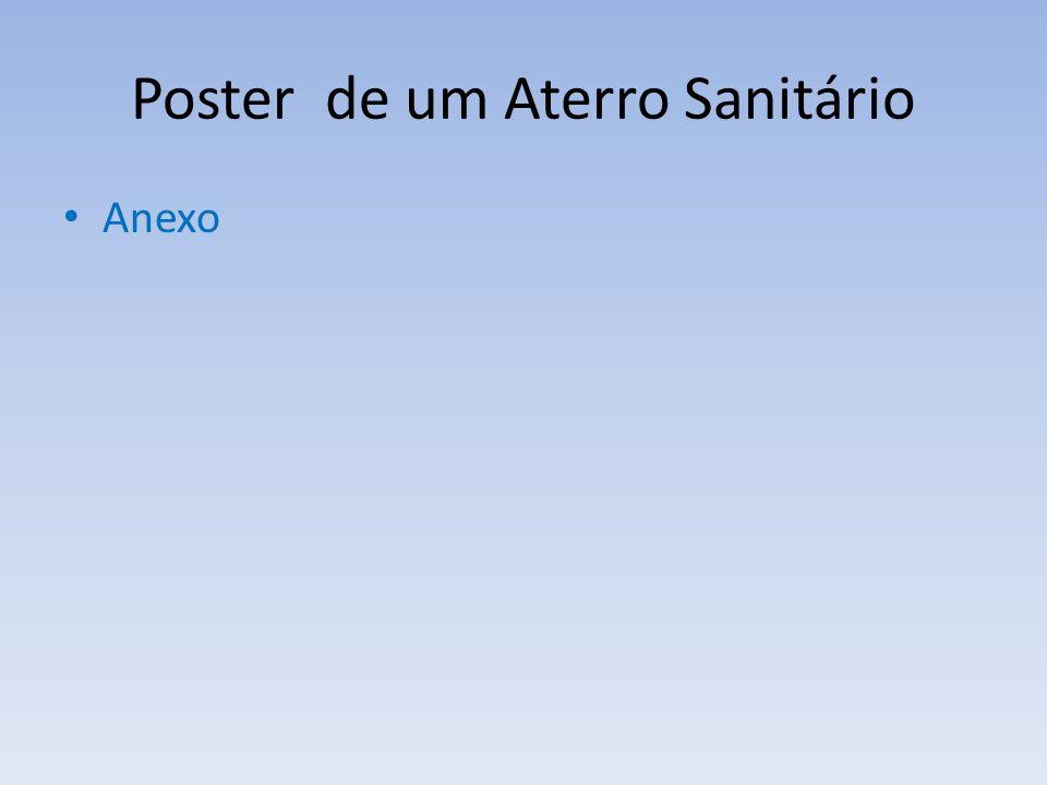 Poster de um Aterro Sanitário
