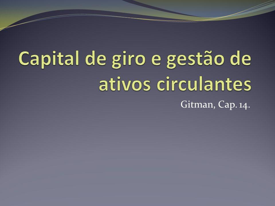 Capital de giro e gestão de ativos circulantes