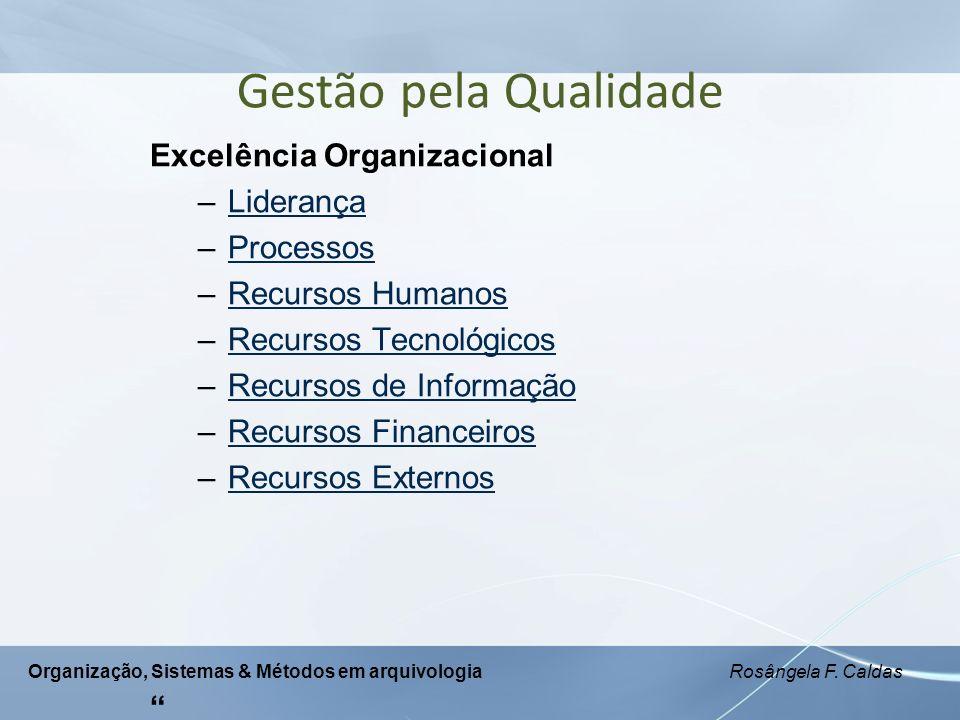 Gestão pela Qualidade Excelência Organizacional Liderança Processos