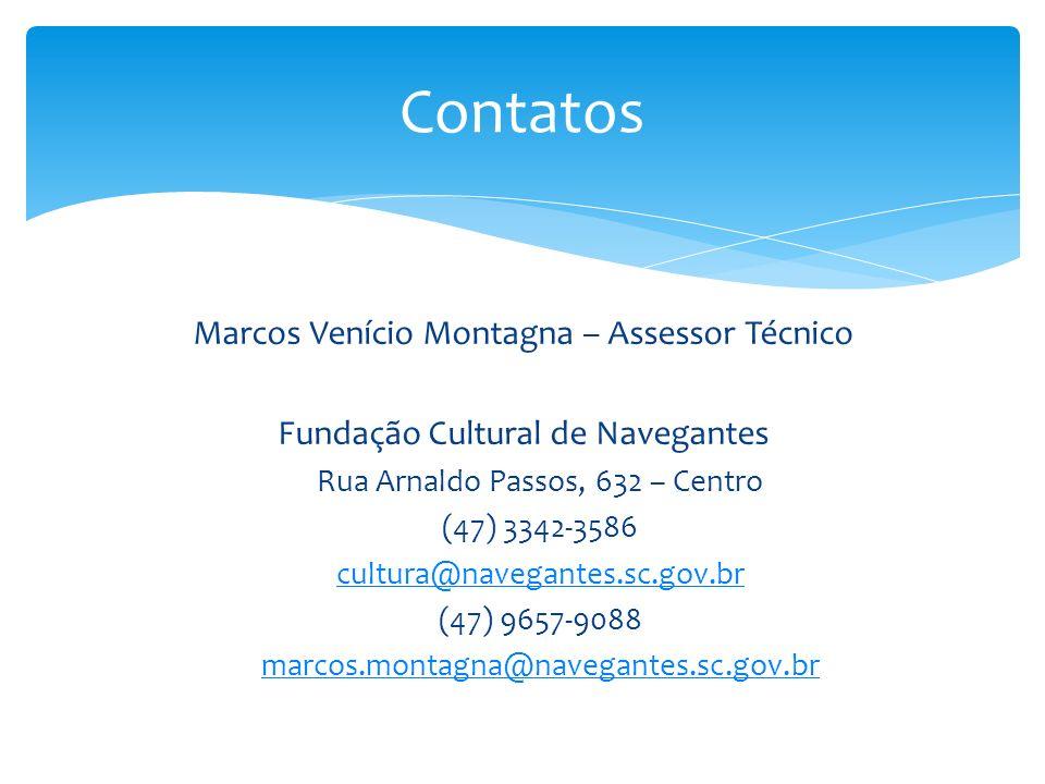 Contatos Marcos Venício Montagna – Assessor Técnico