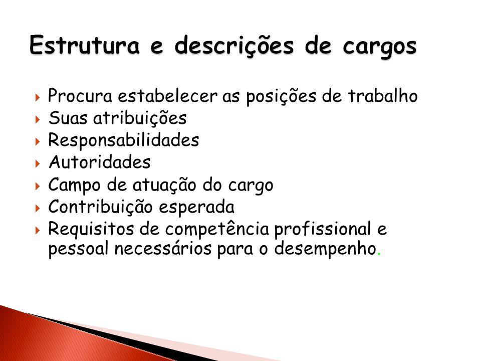 Estrutura e descrições de cargos