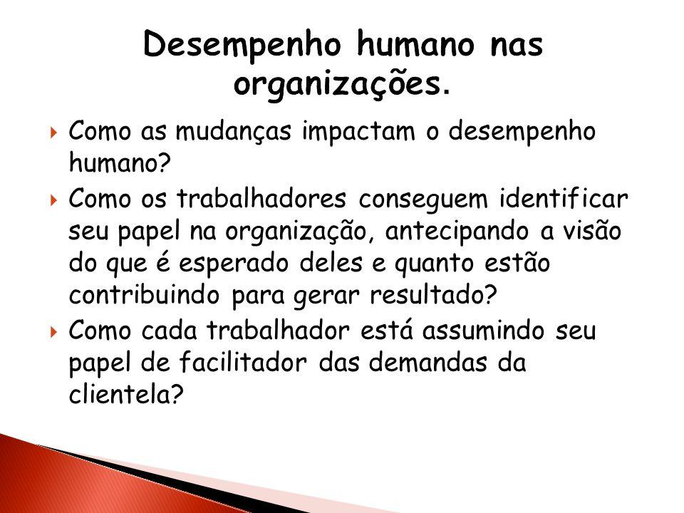 Desempenho humano nas organizações.