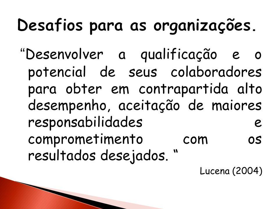 Desafios para as organizações.