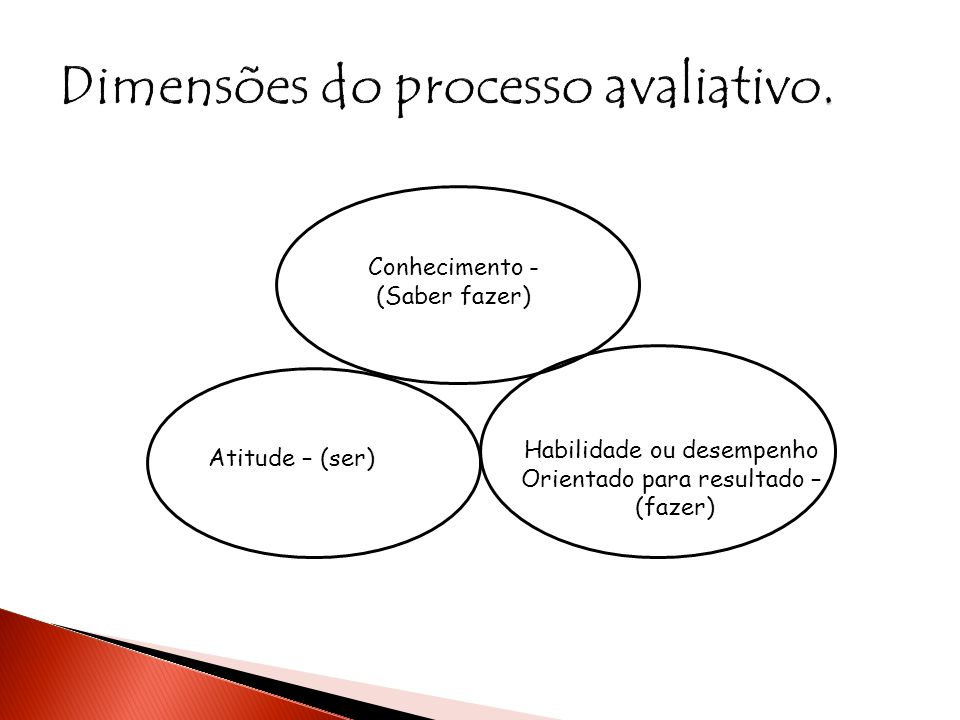 Dimensões do processo avaliativo.