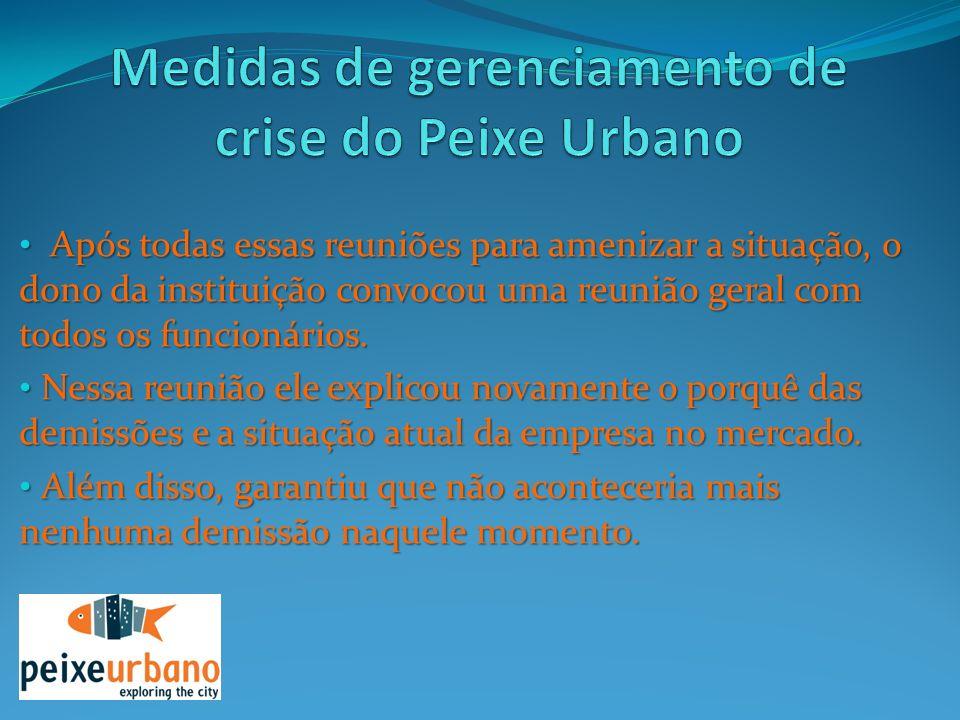 Medidas de gerenciamento de crise do Peixe Urbano
