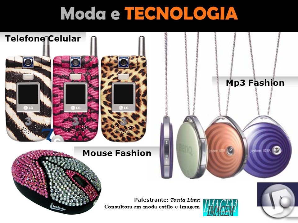 Moda e TECNOLOGIA Telefone Celular Mp3 Fashion Mouse Fashion