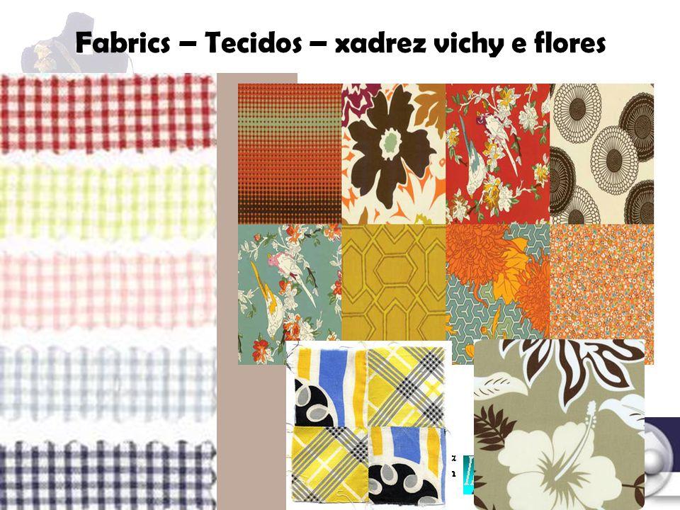 Fabrics – Tecidos – xadrez vichy e flores