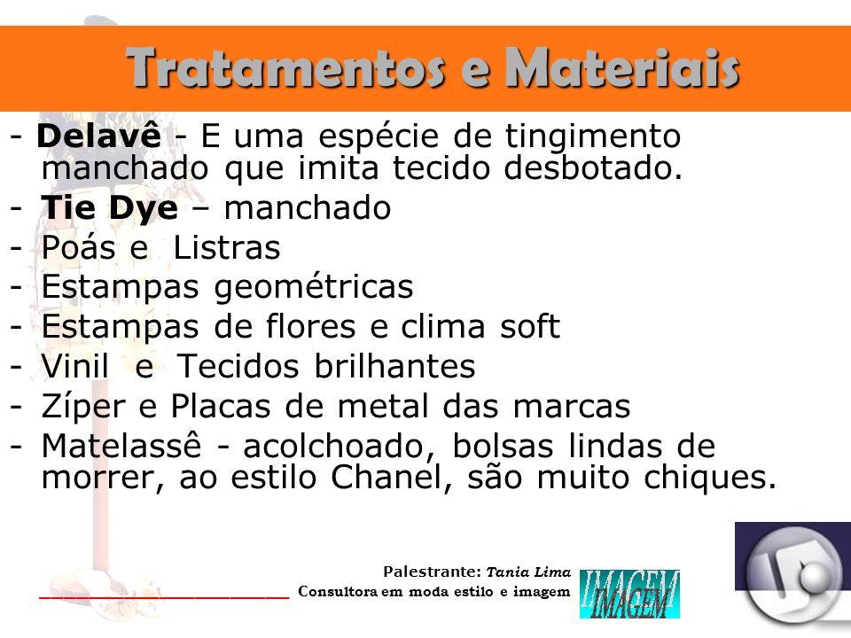 Tratamentos e Materiais