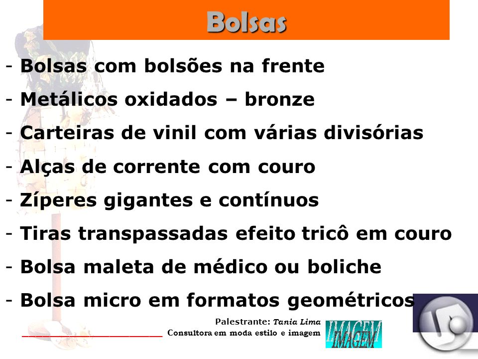 Bolsas Bolsas com bolsões na frente Metálicos oxidados – bronze