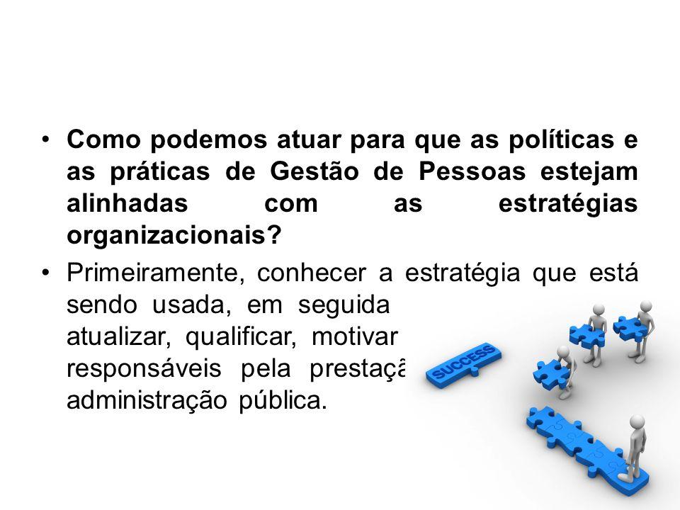 Como podemos atuar para que as políticas e as práticas de Gestão de Pessoas estejam alinhadas com as estratégias organizacionais