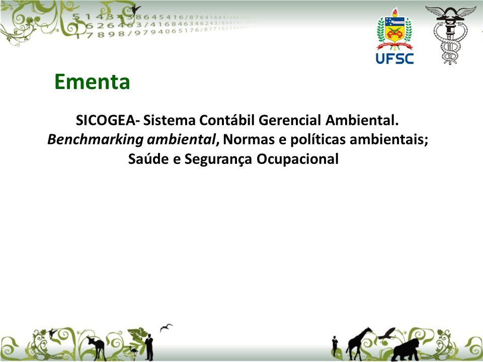 Ementa SICOGEA- Sistema Contábil Gerencial Ambiental.