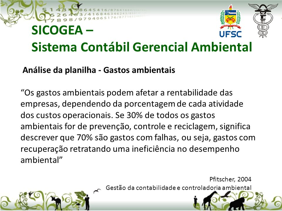 Sistema Contábil Gerencial Ambiental