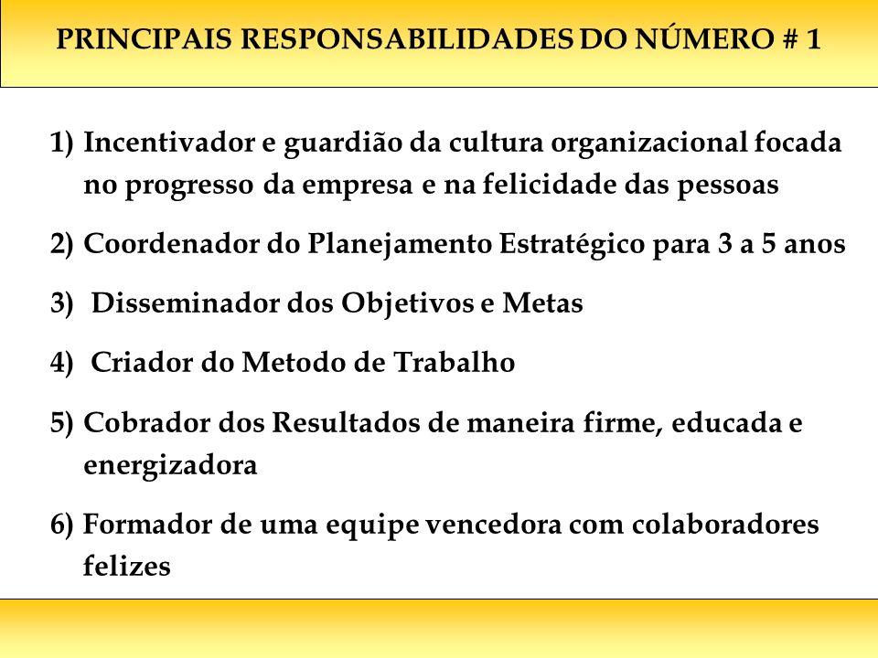 PRINCIPAIS RESPONSABILIDADES DO NÚMERO # 1
