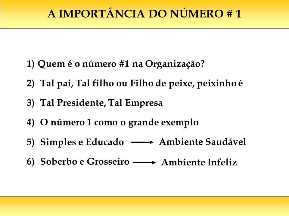 A IMPORTÂNCIA DO NÚMERO # 1