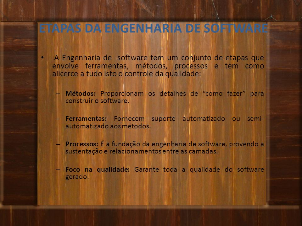 ETAPAS DA ENGENHARIA DE SOFTWARE