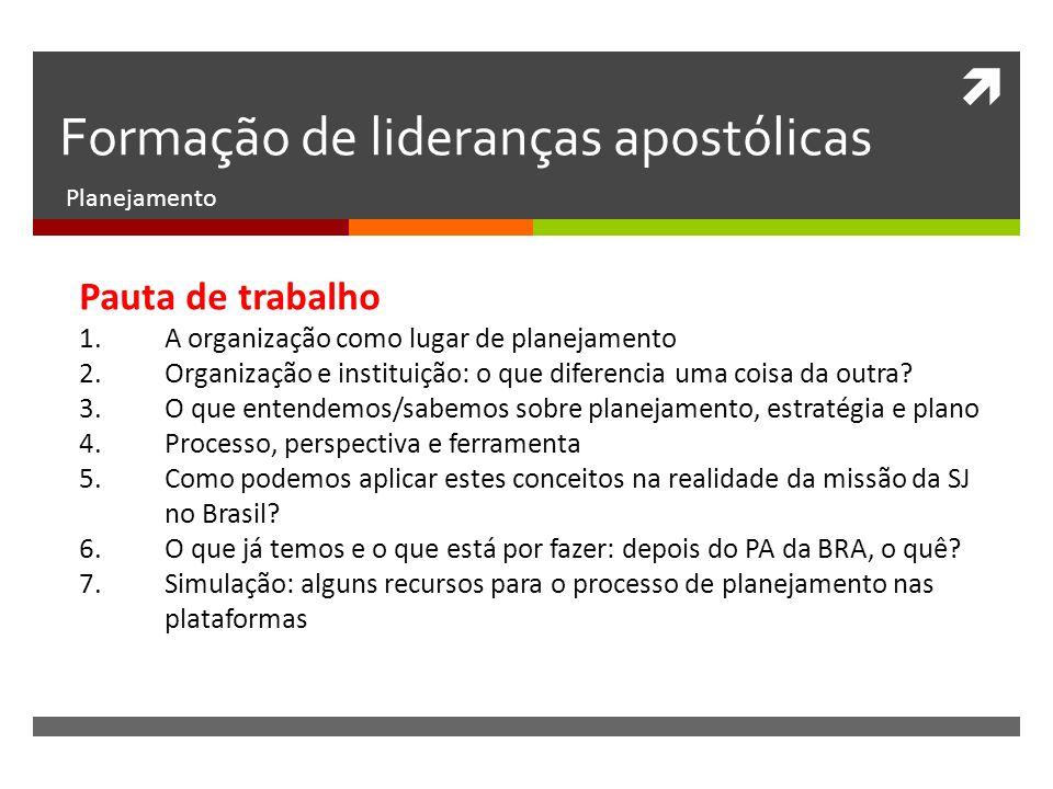 Formação de lideranças apostólicas