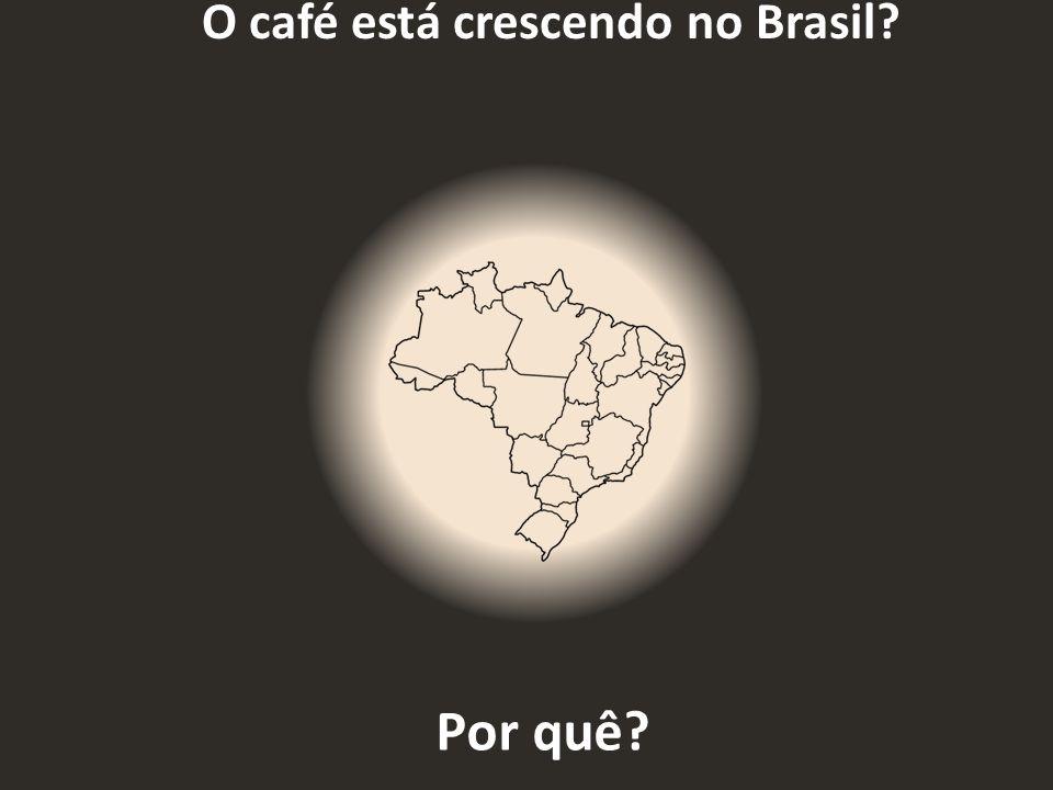 O café está crescendo no Brasil
