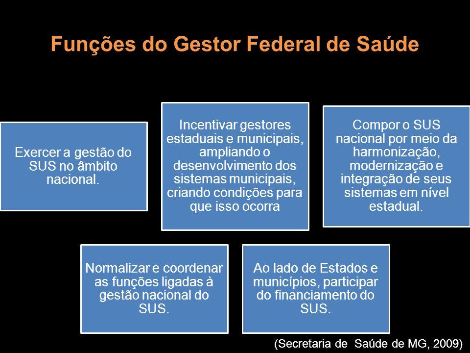 Funções do Gestor Federal de Saúde