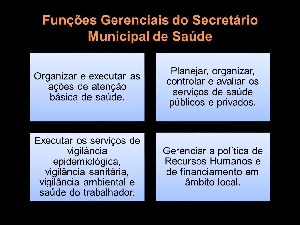 Funções Gerenciais do Secretário Municipal de Saúde