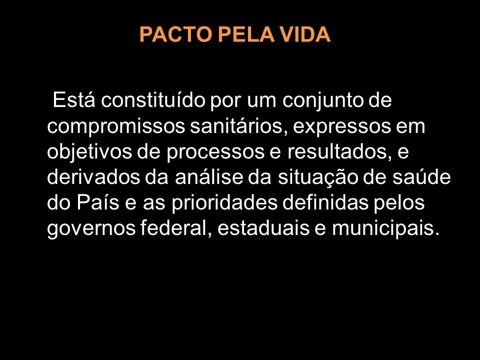 PACTO PELA VIDA
