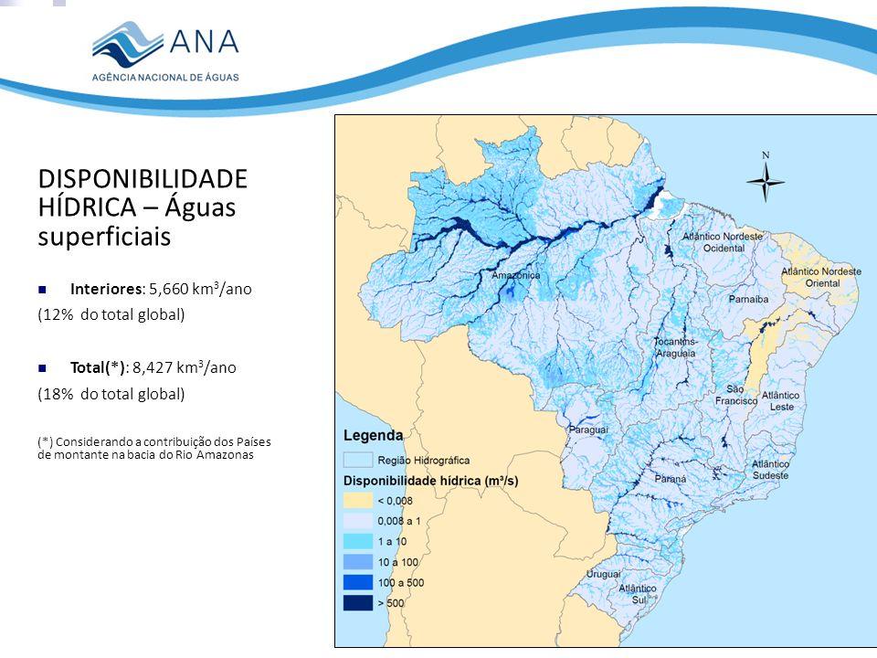 DISPONIBILIDADE HÍDRICA – Águas superficiais