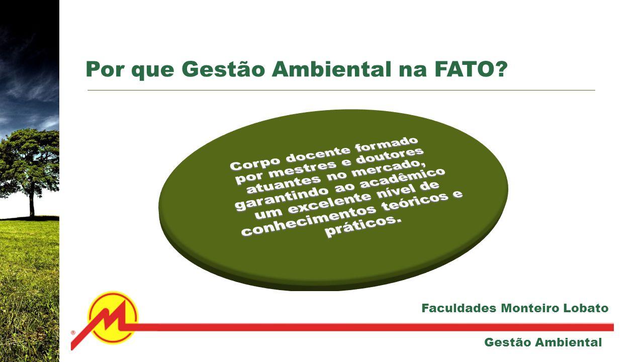 Por que Gestão Ambiental na FATO