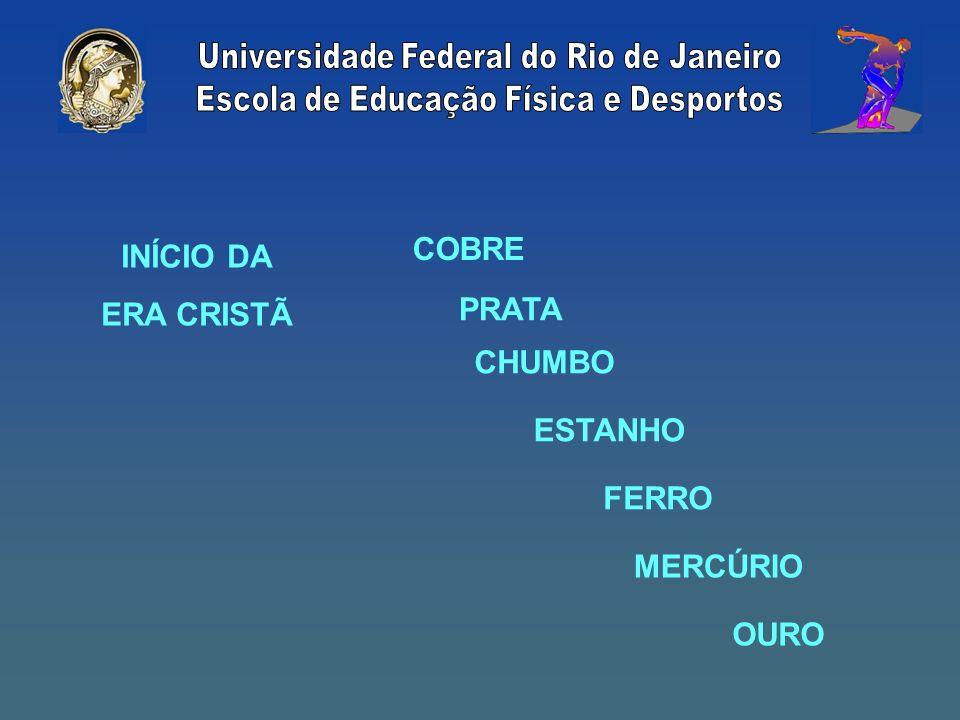 COBRE INÍCIO DA ERA CRISTÃ PRATA CHUMBO ESTANHO FERRO MERCÚRIO OURO