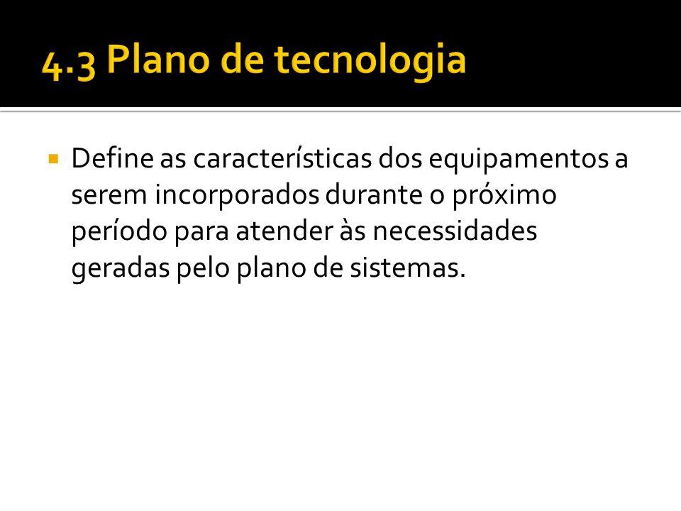 4.3 Plano de tecnologia