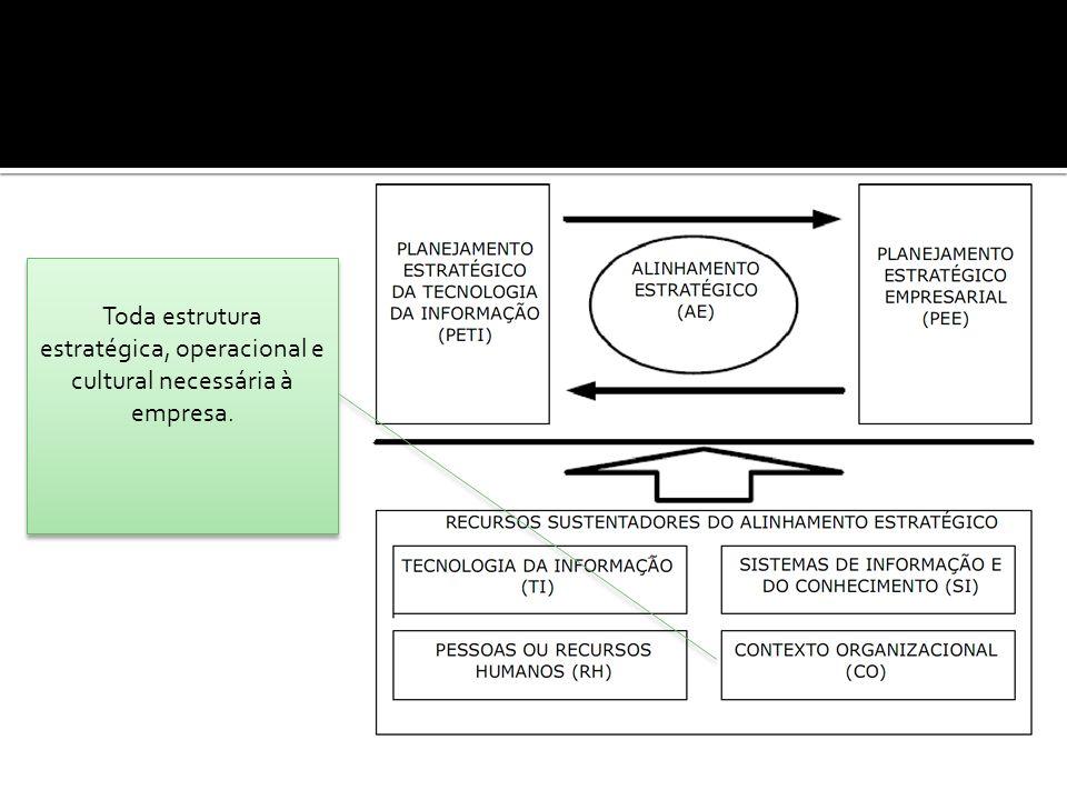 Toda estrutura estratégica, operacional e cultural necessária à empresa.