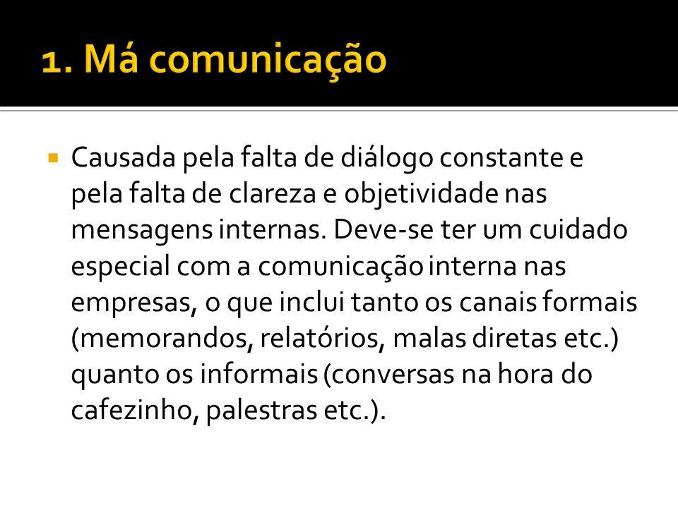 1. Má comunicação