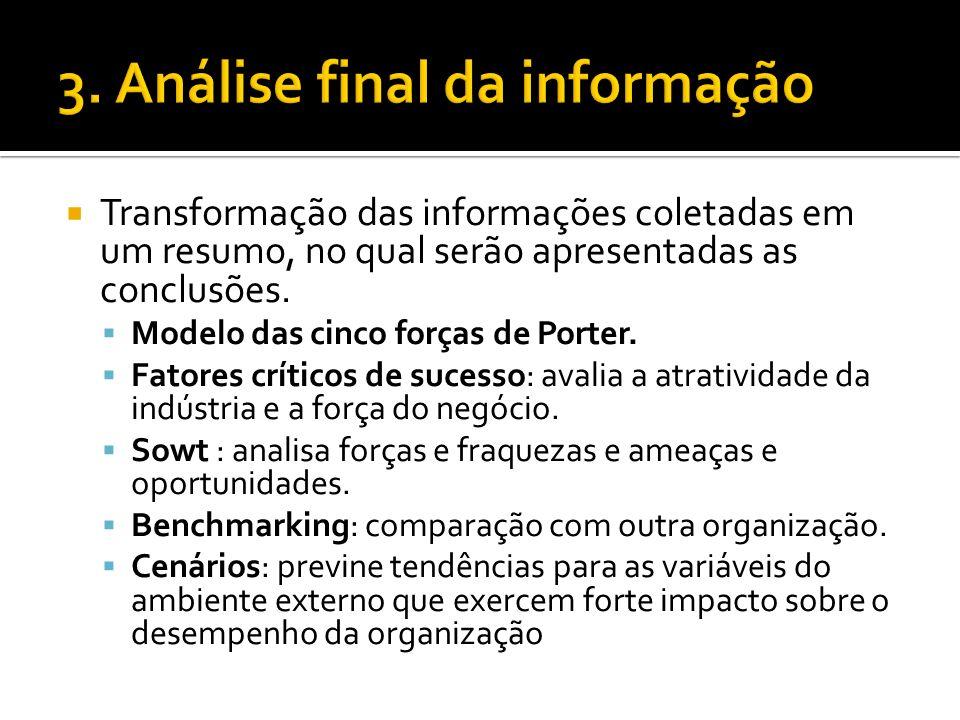 3. Análise final da informação