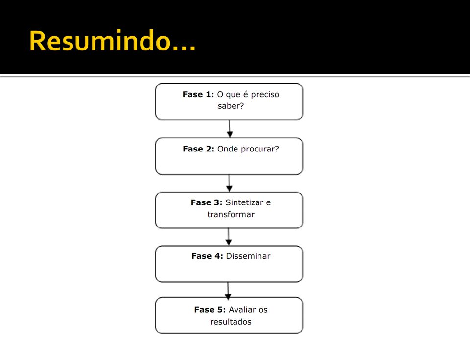 Resumindo… Processo de construção do Sistema de Inteligência Competitiva.