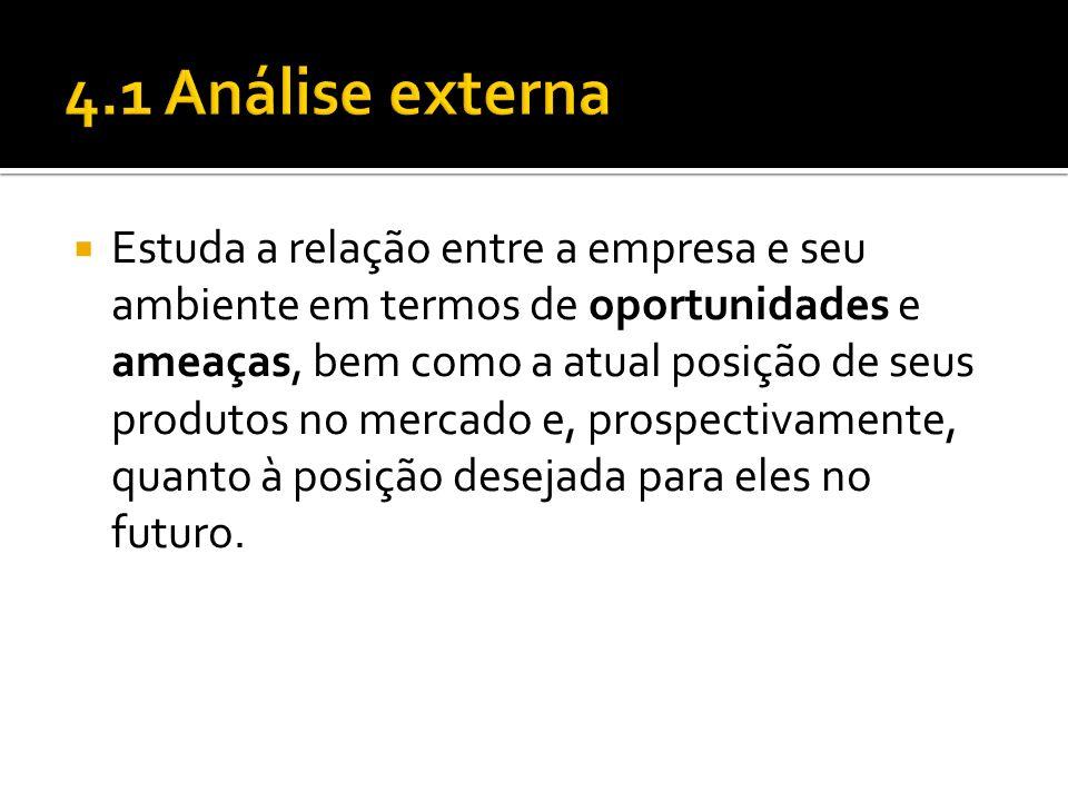 4.1 Análise externa