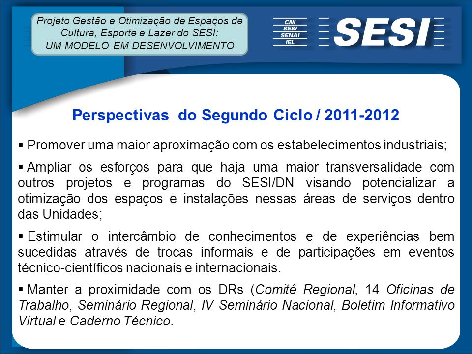 Perspectivas do Segundo Ciclo / 2011-2012
