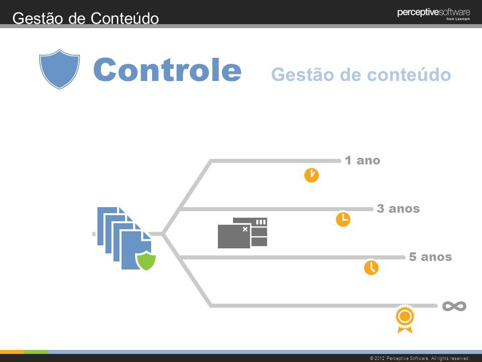 Controle ∞ Gestão de conteúdo Gestão de Conteúdo 1 ano 3 anos 5 anos