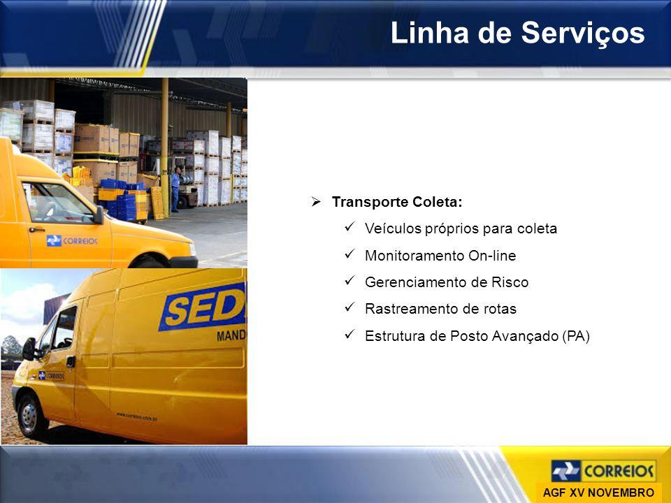 Linha de Serviços Transporte Coleta: Veículos próprios para coleta