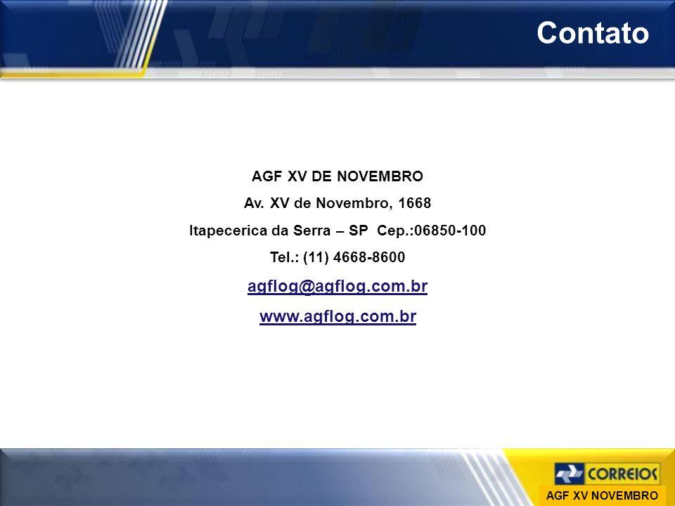 Contato www.agflog.com.br AGF XV DE NOVEMBRO Av. XV de Novembro, 1668