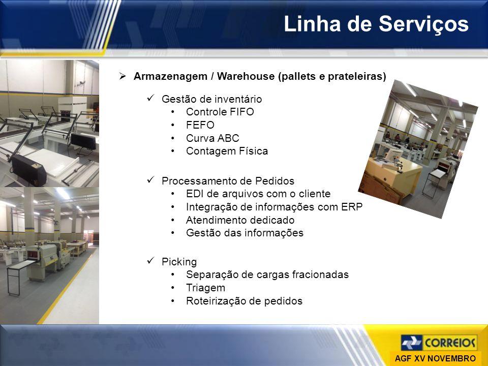 Linha de Serviços Armazenagem / Warehouse (pallets e prateleiras)