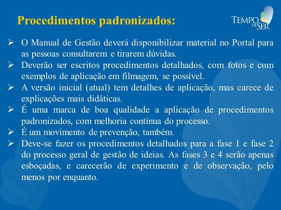 Procedimentos padronizados:
