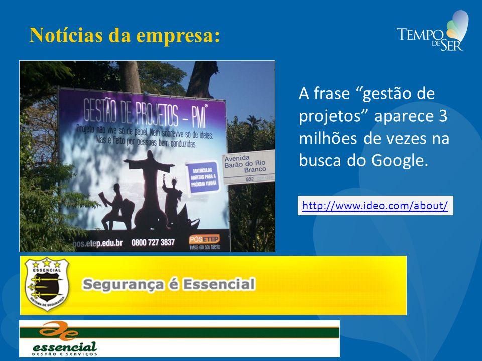 Notícias da empresa: A frase gestão de projetos aparece 3 milhões de vezes na busca do Google.