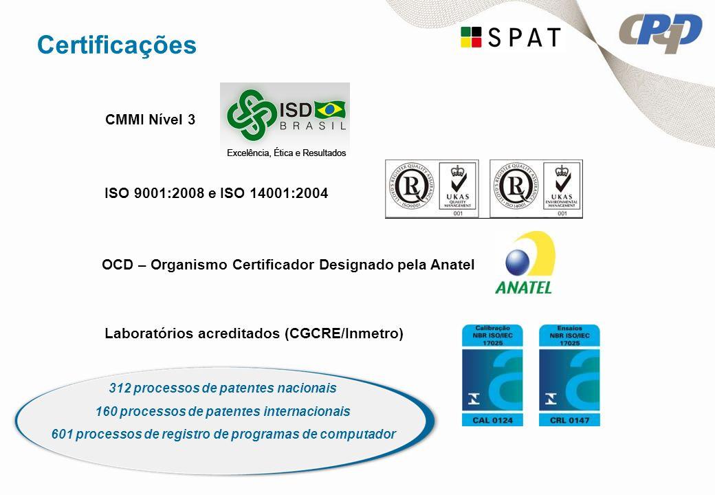 Certificações CMMI Nível 3 ISO 9001:2008 e ISO 14001:2004